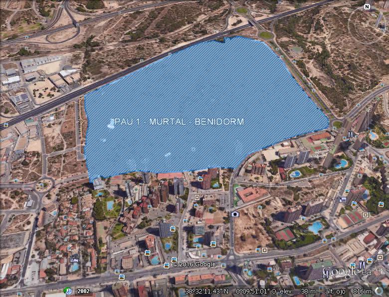 Imagen aérea del suelo en Benidorm (Alicante)