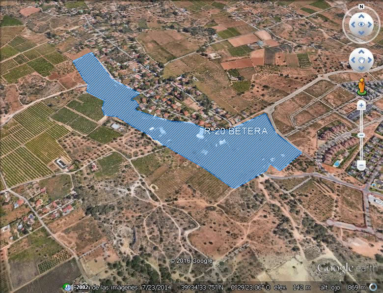 Imagen aérea del suelo Bétera R-20 (Valencia)