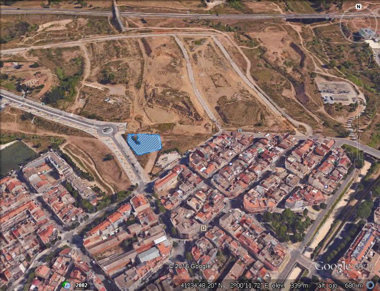 Imagen aérea del suelo en Can Colomer (Terrassa, Barcelona)