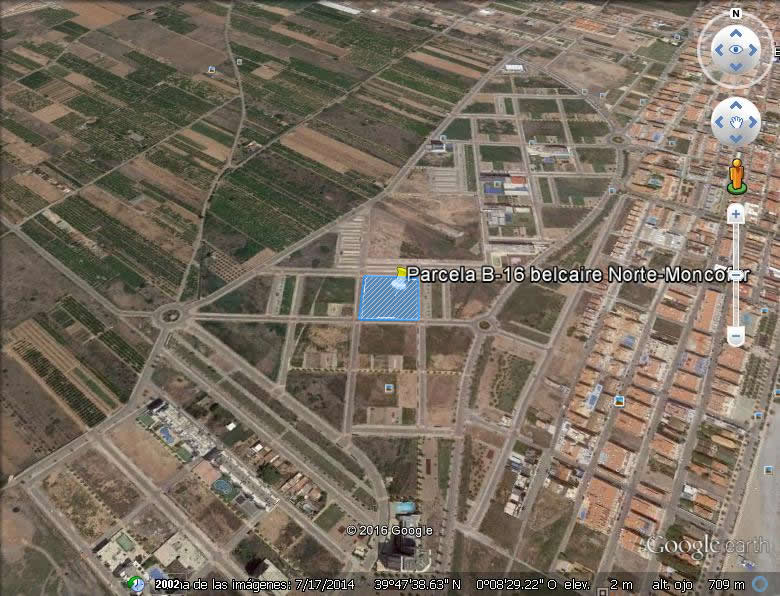 Imagen aérea del suelo en Moncofar (Castellón)