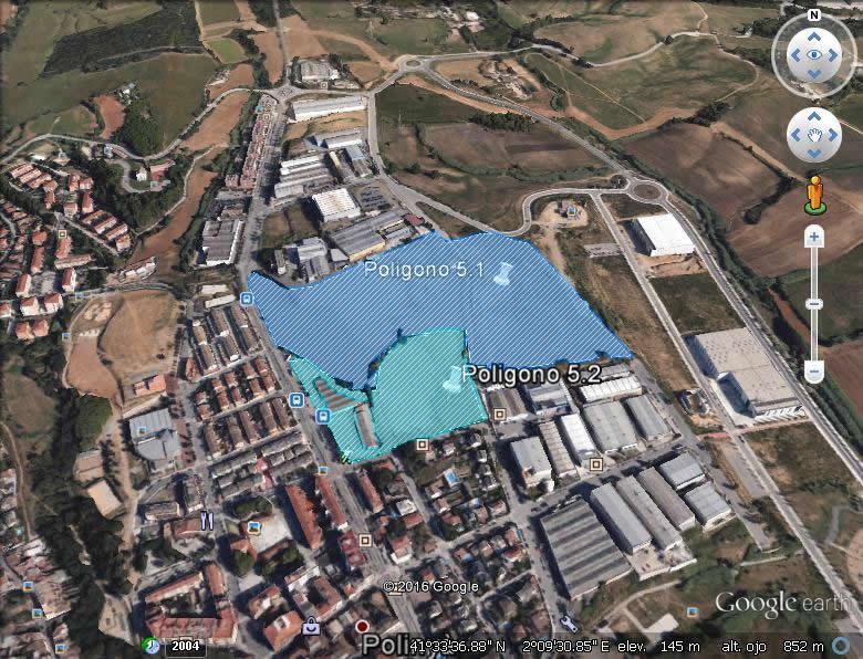 Imagen aérea del suelo en Polinyà (Barcelona)