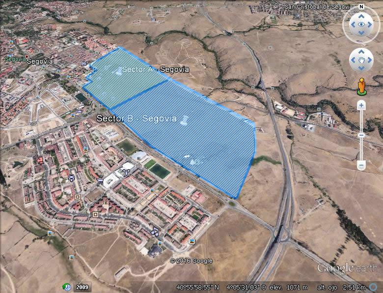 Imagen aérea del suelo en Segovia