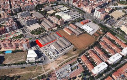 Imagen aérea del suelo en Barberá (Barcelona)