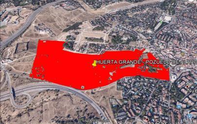 Imagen aérea del suelo Huerta Grande, Pozuelo de Alarcón (Madrid)