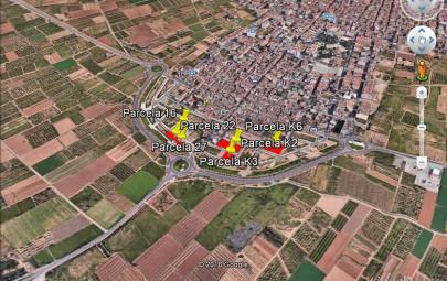 Imagen aérea del suelo Pobla Vallbona (Valencia)