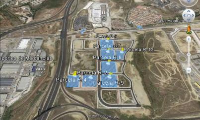 Imagen aérea del suelo en Sup T-8 (Málaga)