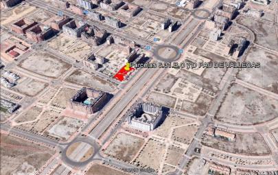 Imagen aérea del suelo en Vallecas (Madrid)