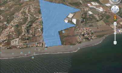 Imagen aérea del suelo en Benajarafe (Vélez, Málaga)