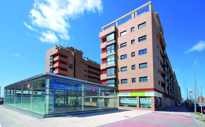 Imagen de la fachada del edificio plaza verde
